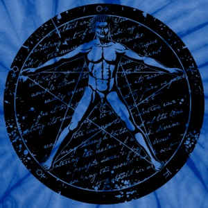 Agrippa Pentagram - Vitruvian Man (round for light T-Shirts - Unisex Tie Dye T-Shirt