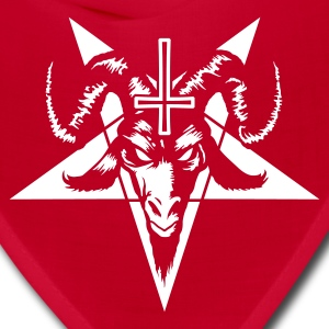 Satanic Goat Head with Pentagram (inverted) Caps - Bandana