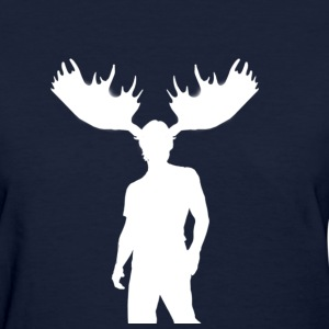 Women's Moose Tee (White) - Women's T-Shirt