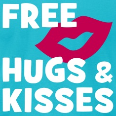 FREE HUGS & KISSES | men's shirt by american apparel