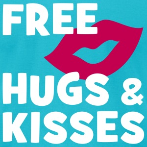 FREE HUGS & KISSES | men's shirt by american apparel - Men's T-Shirt by American Apparel