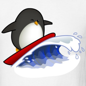 Surfing Penguin T-Shirts - Men's T-Shirt