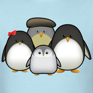 Penguin Family T-Shirts - Men's T-Shirt