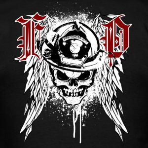 Fire Department Skull - Men's T-Shirt