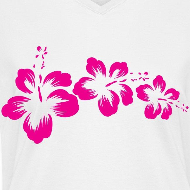 3 Hibiscus Flowers