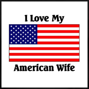 Love my American wife - Men's Ringer T-Shirt