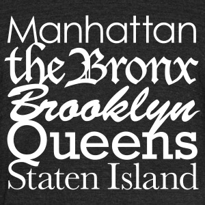 New York Boroughs T-Shirts - Unisex Tri-Blend T-Shirt by American Apparel