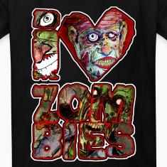 i love zombies square Kids' Shirts