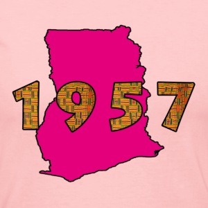 Ghana 1957 pink Long Sleeve Shirts - Women's Long Sleeve Jersey T-Shirt