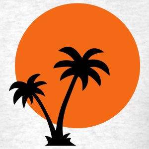 Palm trees and sun T-Shirts - Men's T-Shirt