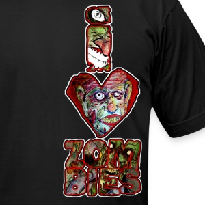 i love zombies -tall T-Shirts - Men's T-Shirt by American Apparel