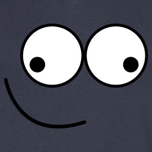 wacky smile crazy smiley face T-Shirts - Men's V-Neck T-Shirt by Canvas