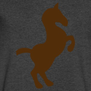 simple rearing show pony horse T-Shirts - Men's V-Neck T-Shirt by Canvas