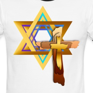 Star Of David and Triple Cross - Men's Ringer T-Shirt