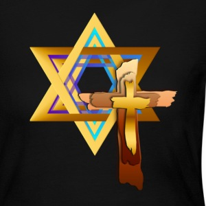 Star Of David and Triple Cross - Women's Long Sleeve Jersey T-Shirt