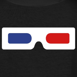 3d glasses old skool Women's T-Shirts - Women's V-Neck T-Shirt