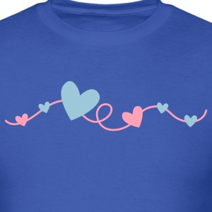 pretty hearts on a curly line T-Shirts - Men's T-Shirt