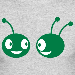 two aliens facing each other Long Sleeve Shirts - Men's Long Sleeve T-Shirt by Next Level