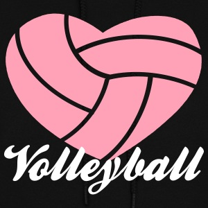 volleyball heart volleyball Hoodies - Women's Hoodie