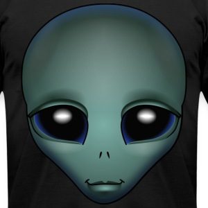 Friendly Alien T-shirt Alien Grey Shirts & GIfts - Men's T-Shirt by American Apparel