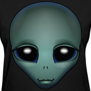 Friendly Alien T-shirt Alien Grey Shirts & GIfts - Women's T-Shirt