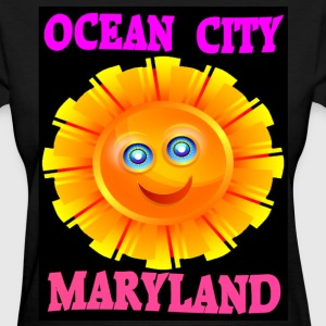 Women's Black Ocean City MD T-shirt - Women's T-Shirt