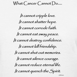 What Cancer Cannot Do - Lung Cancer - Women's T-Shirt