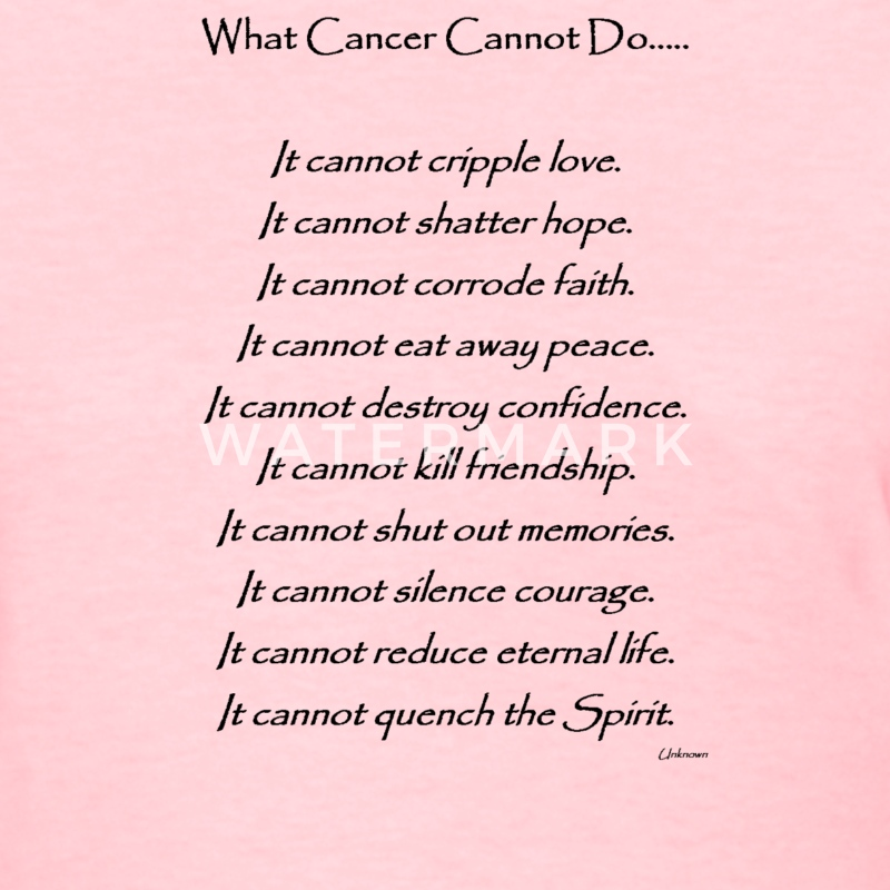 What Cancer Cannot Do - Breast Cancer - Women's T-Shirt