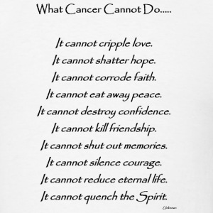 What Cancer Cannot Do - Lung Cancer - Men's T-Shirt
