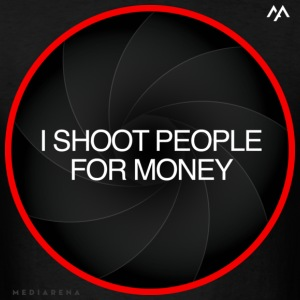 "Mediarena L lens ""I shoot people for money» - Men's T-Shirt"