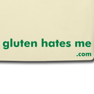 Design ~ Gluten Hates Me Grocery Tote - Green