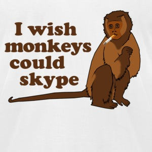 Hangover Monkey Skype T-Shirts - Men's T-Shirt by American Apparel