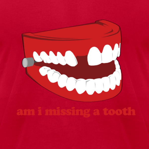 Hangover Missing Tooth T-Shirts - Men's T-Shirt by American Apparel