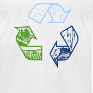 Recycle Tee - Men's T-Shirt by American Apparel