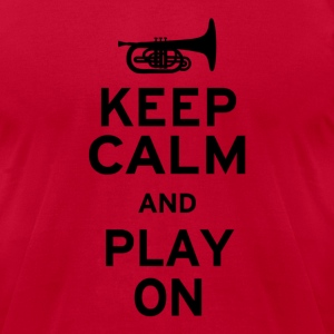Keep Calm and Play On - Men's T-Shirt by American Apparel