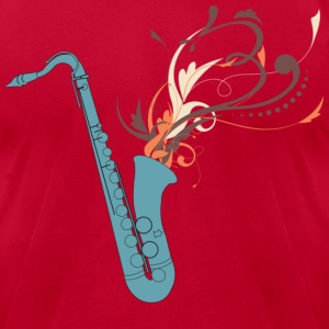 Swirly Saxophone - Men's T-Shirt by American Apparel