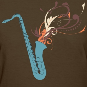 Swirly Saxophone - Women's T-Shirt