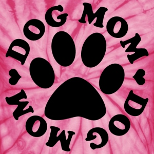 Dog Mom Paw T-Shirts - Unisex Tie Dye T-Shirt