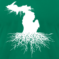 Design ~ Michigan Roots Men's American Apparel T-Shirt