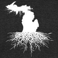 Design ~ Michigan Roots Men's Tri-Blend Vintage T-Shirt