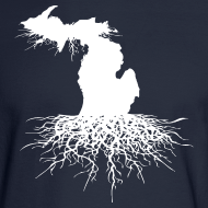 Design ~ Michigan Roots Men's Long Sleeve T-Shirt