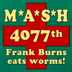 Mash Frank Burns Eats Worms T-Shirts - Men's T-Shirt by American Apparel