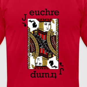 Euchre T-Shirts - Men's T-Shirt by American Apparel