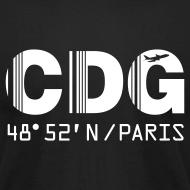 Design ~ Paris airport code France CDG barcode des. black t-shirt