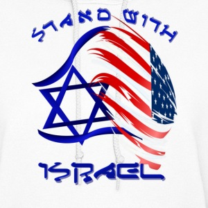 Stand with Israel - lettered - Women's Hoodie