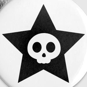 Skull Star Buttons - Small Buttons