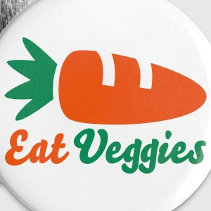 Eat Veggies Buttons - Large Buttons