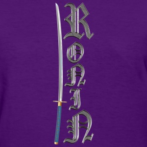 Womens Shirt with Old English Ronin and Sword - Women's T-Shirt