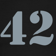 Design ~ HITCHHIKER'S GUIDE 42 T-Shirt - Ringer T-Shirt - Metallic Flex Number