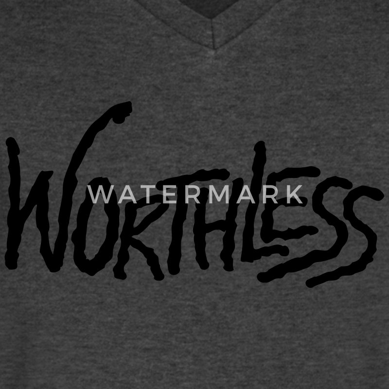 worthless T-Shirts - Men's V-Neck T-Shirt by Canvas